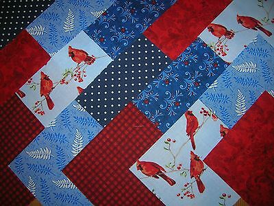 "48 x 5"" CHARM PACK RED & BLUE  100% COTTON PATCHWORK/QUILTING/CRAFTS RBR"