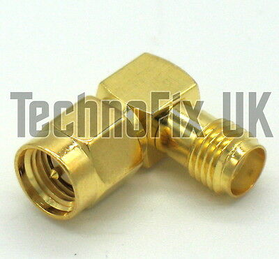 SMA female to SMA male right angle adapter right-angled 90 degree