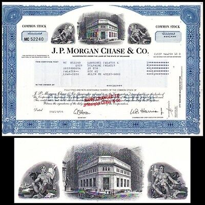 J.P. Morgan Chase & Co, 2004 Stock Certificate