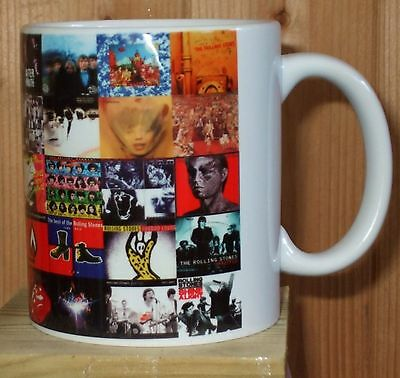The Rolling Stones Classic rock albums mug