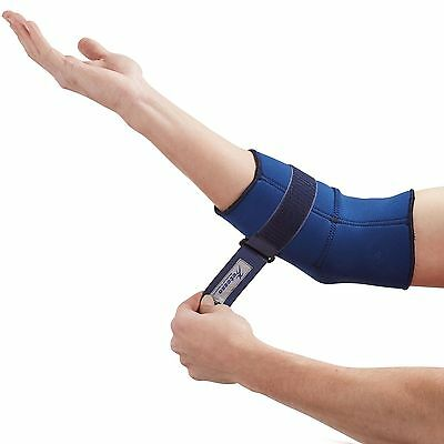 Blue Elbow Support Sleeve - Neoprene Tennis/ Golfer Elbow Strap