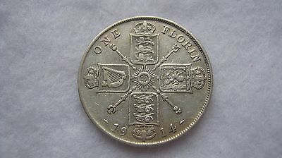 1914 George V silver florin coin (WT01)