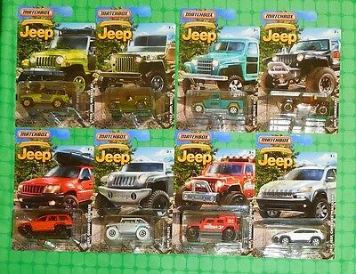 2016 Matchbox - Jeep Anniversary Edition - Complete Set Of 8