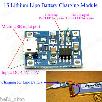 5V Micro USB 1A 18650 Lithium Battery Mini Charging Board Lipo Charger Module