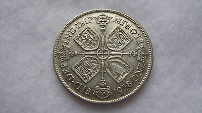 1928 George V silver florin coin.(WT01)