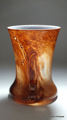 Graystan Malted Brown Over White Vase c1930