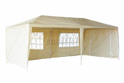 Waterproof Beige 3m x 6m Outdoor Garden Gazebo Party Tent Marquee Awning Canopy
