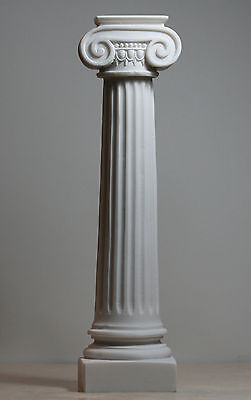 Greek Ionic order Column Pillar Pedestal Statue Handmade Sculpture Decor 10.7in