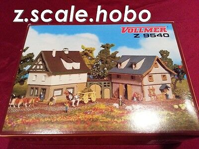 Vollmer Z 9540 Farm House and Barn Set Kits 2 Buildings *NEW *USA DEALER*