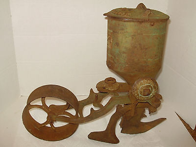 Antique Iron Age Corn Seeder Iron