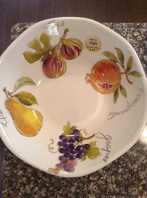 NEW!!! EFFETTI d'Arte Made in Italy Fruit Pasta Salad Bowl