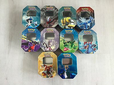 Job Lot 10 Pokemon Storage Tins For Cards
