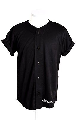 Scarcewear Men's Plain Black White Navy Silky Baseball Jersey Shirt Size S-4XL