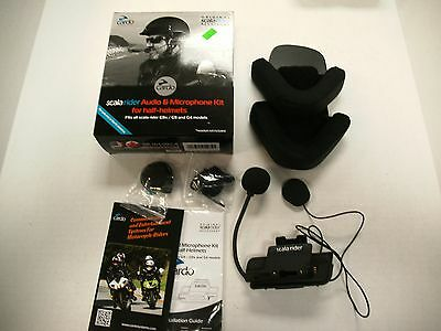 SCALA RIDER AUDIO & MICROPHONE KIT FOR HALF HELMETS FITS G9x G9 G4
