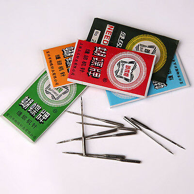 Pro 50pcs Threading Needles Pins for Domestic Sewing Machine 9/11/12/14/16/18/20