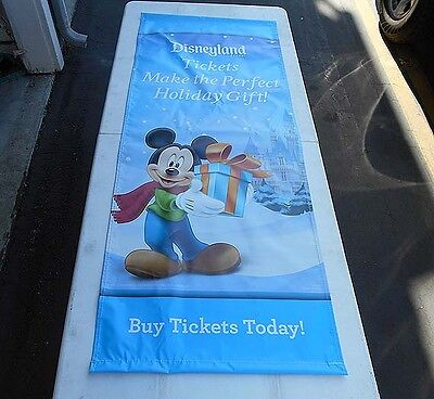 Disney Rare Promotional Only Vinyl Banner Large 5'x2' Featuring Mickey Mouse
