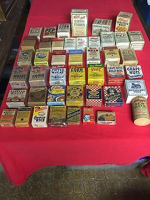 Vintage Cereal Sample Box 44 Different REDUCED