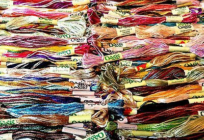 75 x Variegated Oasis Silk Embroidery Thread Skeins with most Demanding Colours