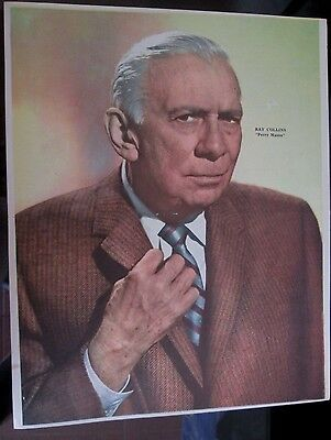 Perry Mason Ray Collins Poster 1957 From A Magazine In Spanish