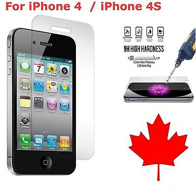 Premium Tempered Glass Screen Protector for Apple iPhone 4 4S