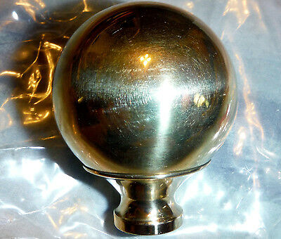 "One Brass 2"" Finial That Fits Antique Iron & Brass Beds 3/8"" thread hard to find"