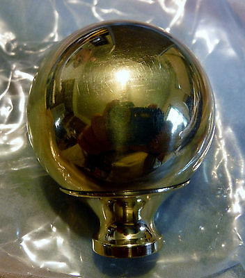 "One Brass 1 3/4"" Finial For Antique Iron & Brass Beds 3/8"" thread hard to find"