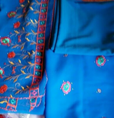 New blue unstiched suit weddings partys any accasion