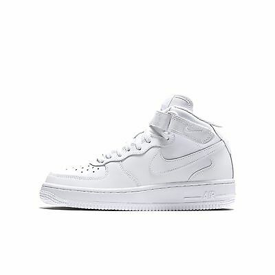 Nike Air Force 1 Mid (GS) Shoe NEW AUTHENTIC White/White 314195-113
