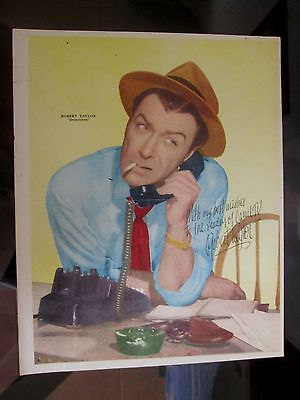 Detectives Robert Taylor 1959 Poster From A Magazine In Spanish