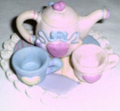 New Heart Themed Mini Tea Set Barbie Miniature Playset