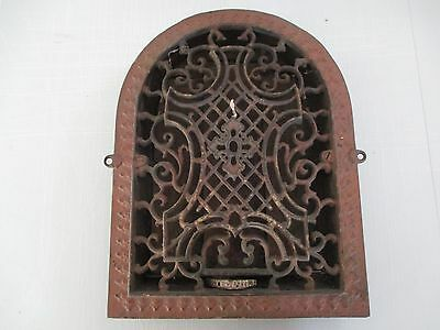 Antique Cast Iron Arch Top Ornate Victorian Heat Grate Wall Register 11x14 VF1/2