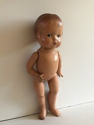 Rare Wooden Antique Doll