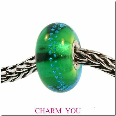 AUTHENTIC TROLLBEADS 61356 Silver Trace, Green - Turquoise RETIRED