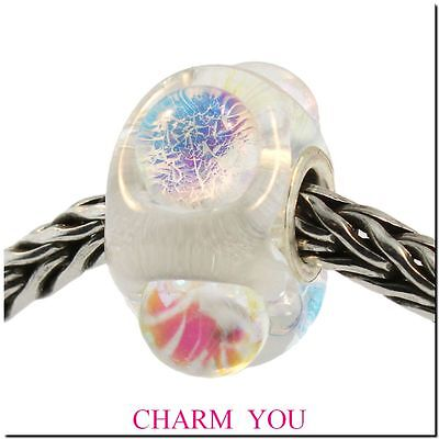 AUTHENTIC TROLLBEADS 62014 Dichroic Ice