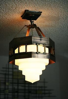 Art Deco Bronze Chandelier