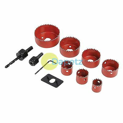 11 Pieces Holesaw Kit Set - Hole Saws For Plaster Board Wood Fiber Glass