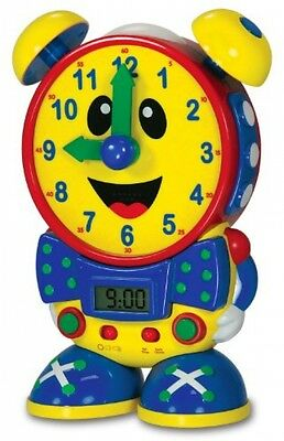 Baby Children Learning Telly Teaching Time Clock Primary Colors for Kids Room
