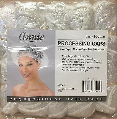 """ANNIE"" Processing Caps Clear 100pcs. For: Perming, Conditioners, Coloring"