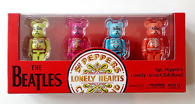 The Beatles 100% BE@RBRICK Sgt. Peppers Lonely Hearts Club Band Toy Set
