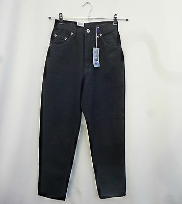 "Vintage 1990s NWT Mom Jeans High Waisted Black Grunge Goth 26""W  27""L 8-10"