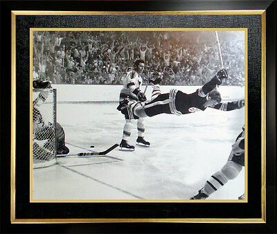 "Bobby Orr ""The Goal"" 11x14 Framed Photo - Boston Bruins"