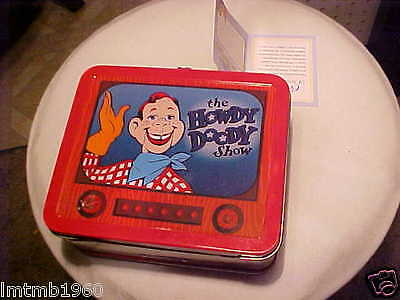 Howdy Doody Hallmark School Days Lunch Box numbered CERTIFICATE OF AUTHENTICITY