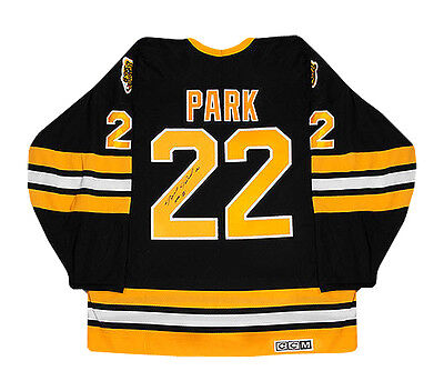 Brad Park Autographed Black Boston Bruins Jersey