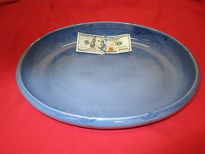 Vintage Weller Green Teal Opaque Bowl Dish Ceramic Pottery