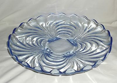 """Cambridge CAPRICE BLUE *14"""" 4 FOOTED PLATE*"""