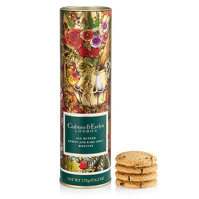 NEW Crabtree & Evelyn Lemon & Earl Grey Biscuits 175g