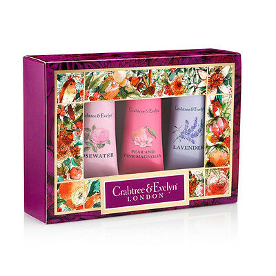 NEW Crabtree & Evelyn Floral Hand Therapy Trio Set
