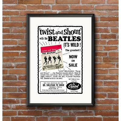 The Beatles Twist & Shout Record Release Poster - January 1964 Canada