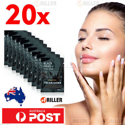 20X PILATEN BLACKHEAD Remover NEW Face Mask Pore Skin Cleansing Black Strip Nose