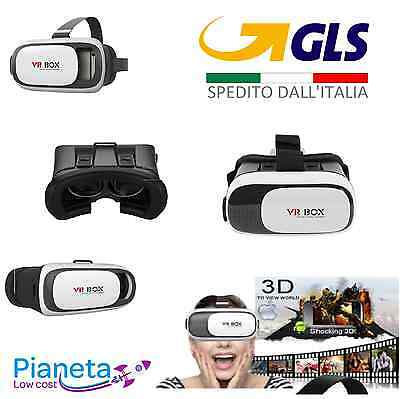 VR BOX 2.0 OCCHIALI REALTA' VIRTUALE video 3D VIRTUAL REALITY VISORE SMARTPHONE